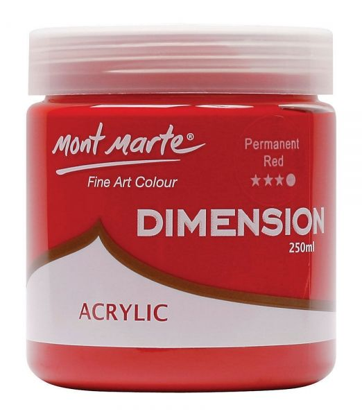 Vopsea acrilica Mont Marte Dimension 250ml Permanent Rosu